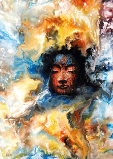 Order in Chaos II - 50x70 cm - Enkaustisk / Bivaxmåleri på canvas