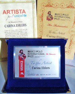 Art Awarda, Marco Polo International Prize 2015 and Unicef 2015