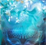 Encaustic Art / Beeswax on bord, 20x20 cm - Carina Ehlers