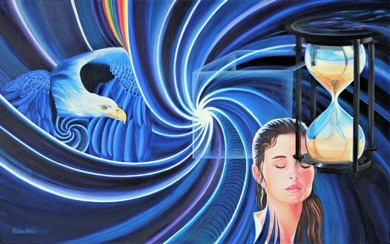 Original Oil on Canvas - Mind Over Matter - 80x50 cm