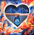 Original Oil on Canvas - Bridge for Hope - 80x80 cm