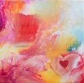 Original Encaustic Art on Bord - 'Morning Bliss' - 20x20 cm