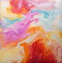 Original Encaustic Art on Bord - 'Color Delight' - 20x20 cm