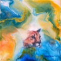 Original Encaustic Art on Bord