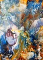 Original Encaustic Art on Canvas - 'Order in Chaos' - 50x70 cm