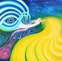 Giclée prints on canvas, på kilram/in stretcher frame - EnergyPower - 73x74 cm - Giclée/digigraphie, uppspänd på KILRAM