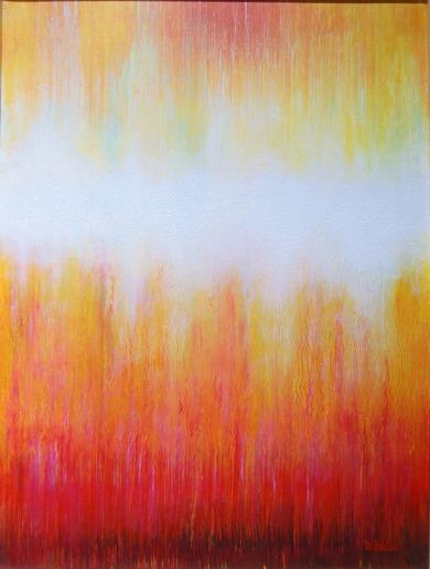 Livsimpuls - Akryl på bomullsduk, 30x40 cm