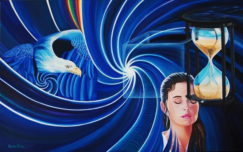 Oljemålning: av Carina Ehlers 80x50 cm