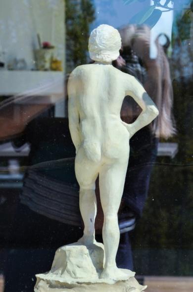 Min första skulptur som jag gjorde på Konstindustriskolan på 70-talet
