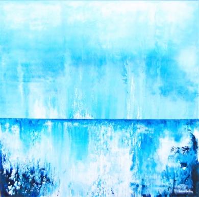 Horisont att begrunda - 54x54x2,3 cm - Akryl på canvas -- Såld!