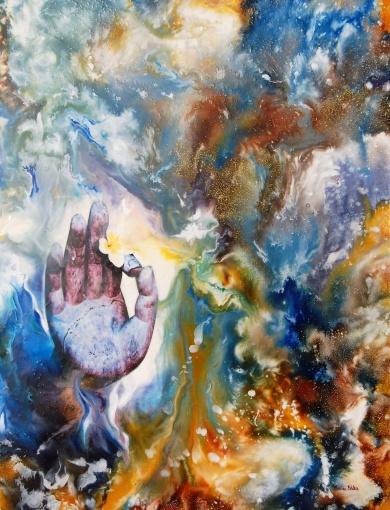 Order in Chaos - 50x70 cm - Enkaustisk / Bivaxmåleri på canvas