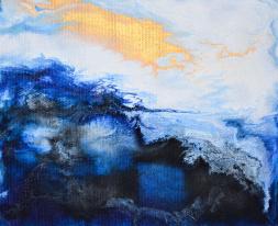 Spirit of Sky - 18x15 cm - Akryl på canvas