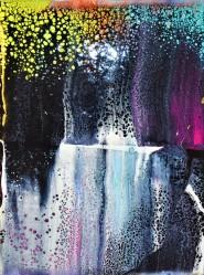Elements Meeting - Akryl på canvas - 18x24cm - (kilramsdjup 1,6 cm) - Pris 1.100:-