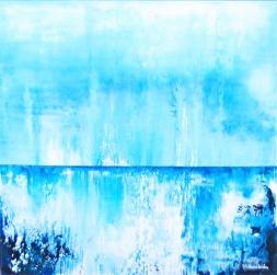 Horisont att begrunda - 54x54x2,3 cm - Akryl på canvas