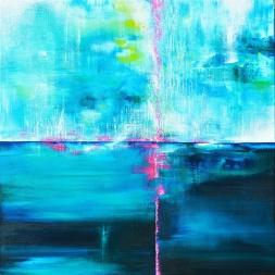 Kontakt - 53x53 cm - Akryl på canvas