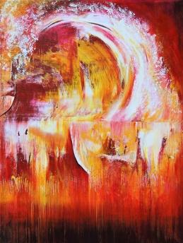 Follow the Wave - Akryl på bomullsduk, 30x40 cm