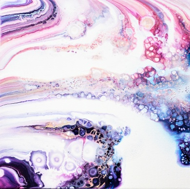 Theta Connection - 40x40 cm - Akryl på canvas