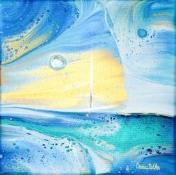Midway Across - 19x19 cm - Akryl på canvas