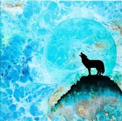 Song of the Wild - 20x20 cm - Akryl och olja på canvas