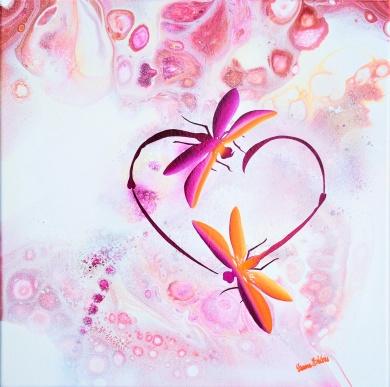 Strength Bonded Love - 40x40 cm - Akryl på canvas