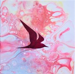 Stability - 20x20 cm - akryl och olja på canvas