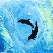 Compassionate - 20x20 cm - Akryl och olja på canvas