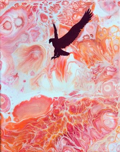 Attack - 24x30 cm - Akryl och olja på canvas