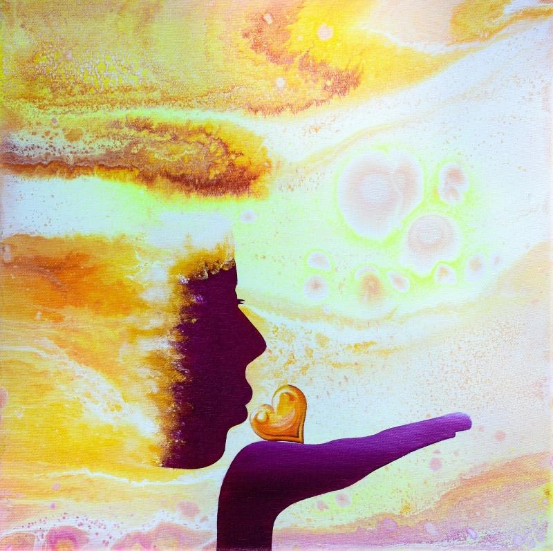 Spread the Light - 30x30 cm - Akryl och olja på canvas