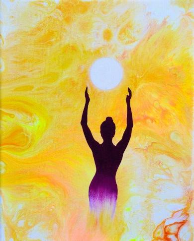 Mind Movie - 22x27 cm - Akryl och olja på canvas -- Såld!