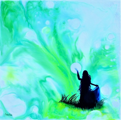 Devoted - 40x40 cm - Akryl och olja på canvas