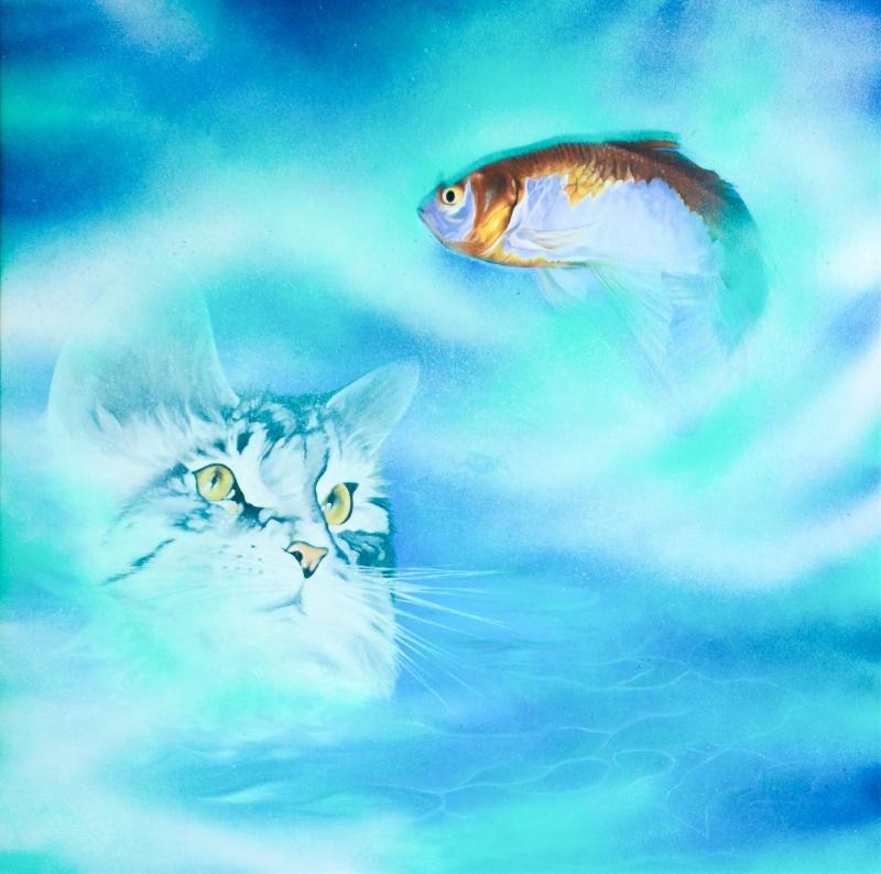Relations - 55x55 cm - Olja och akryl på canvas