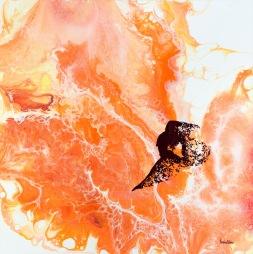 A leap for renewal - 50x50 cm - Akryl på canvas