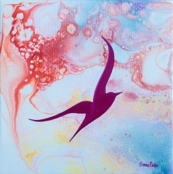 Joy - 20x20 cm - akryl och olja på canvas