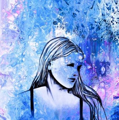 An Extraordinary Mind - 50x50 cm - Akryl och olja på canvas