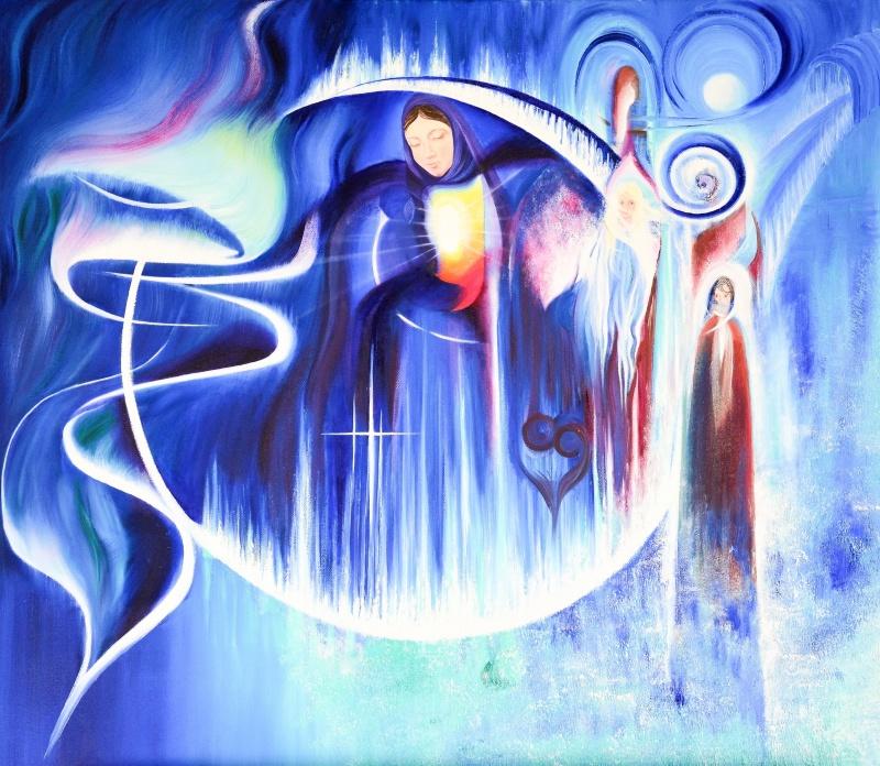 The Inner Child - 80x70 cm - Olja på canvas