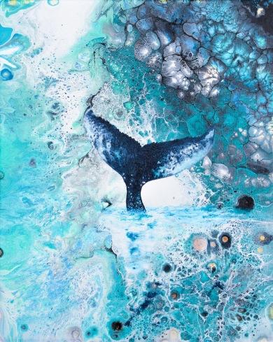 Heart of the Wild III - 27x22 cm - Akryl och olja på canvas