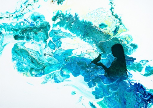 Always Friends - 70x50 cm - Akryl och olja på canvas