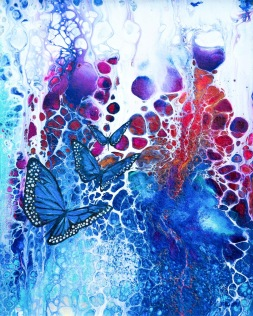 Wonderment ll - 27x22 cm - Mixed media / akryl och olja på canvas