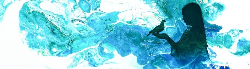 Olja & akryl på canvas - 50x70 cm - bilden är beskuren!