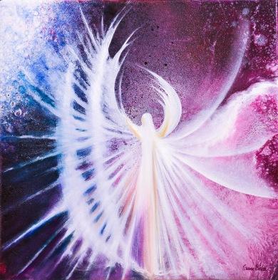 Celestial Being - 30x30 cm - Akryl och olja på canvas