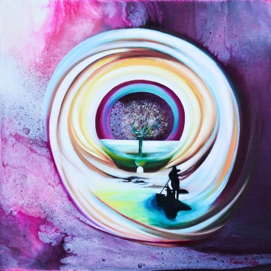 Rare Passage - Akryl och därefter olja, på canvas - 30x30 cm