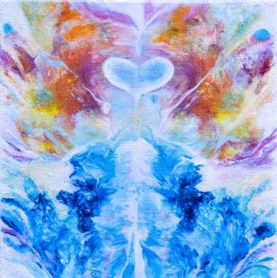 JOY - 20x20 cm - Akryl & olja på canvas