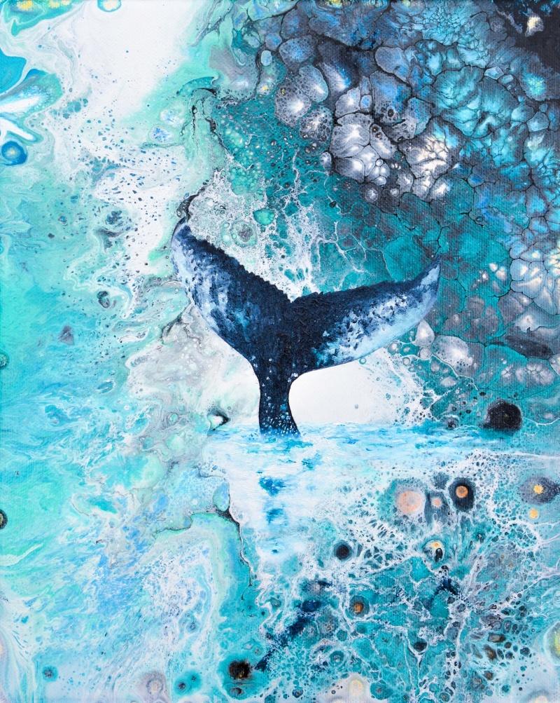 Heart of the Wild III - 27x22 cm - Akryl och olja på canvas - SÅLD!