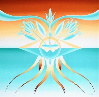 Expansive Mercy - Akryl på bomullsduk, 54x54 cm