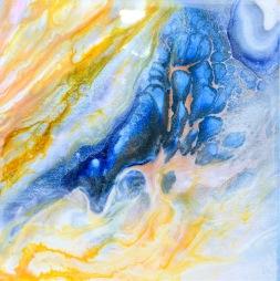 Progression - Resinkonst på canvas