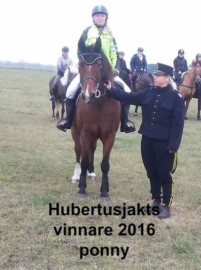 Hubertusjakts vinnare Ponny 2016