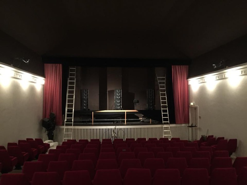 Experience Live Cinema Line Array Model EL-85bs Installed