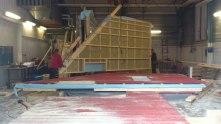 Väggtillverkning på vårt eget kontor och verkstad Bränta