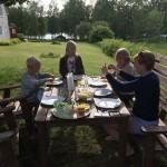 Lunchpaus under eken