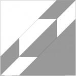 Två trianglar med pos/neg färgläggning